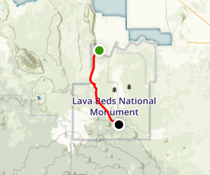 Lava Beds National Monument Scenic Drive Map
