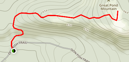 Great Pond Mountain Map