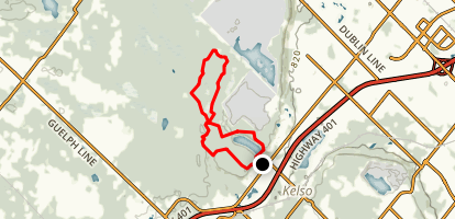 Hilton Falls, Hilton Reservoir, and Bruce Side Trails Map