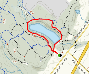 Hilton Falls Reservoir Loop Map