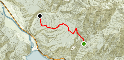 Spring Run Canyon to Little Sheep Creek Map
