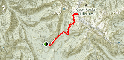 Old Snowy Mountain via Snowgrass Trail Map