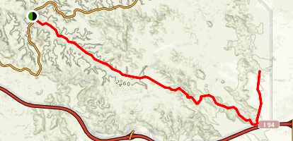 Upper Paddock Creek Trail Map