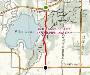 Kettle Moraine Scenic Drive: Kettle Moraine State Forest Map