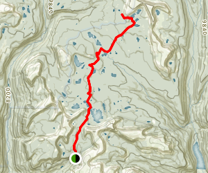 Four Lakes Basin via Grandview Trail Map