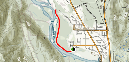 Brackendale Dykes Trail Map