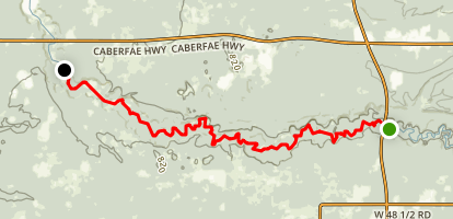 Pine River Kayak Map