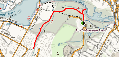Secret Beach and Roy Guerrero Trail Map