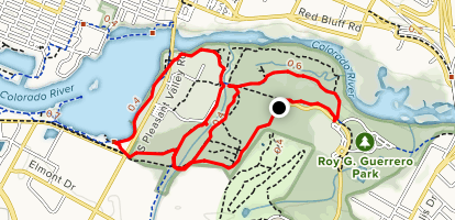 Roy Guerrero Colorado River Park Trail Map