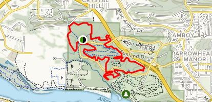 Burns Park MTB Trail Map