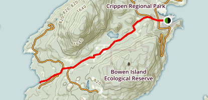 Grafton Road: Snug Cove to Tunstall Bay Map