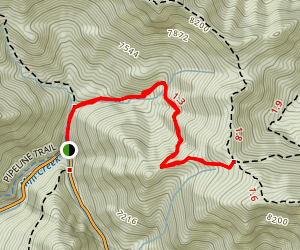 Elbow Fork to Lambs Canyon Pass Map
