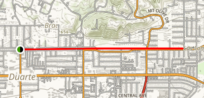 Duarte Recreational Trail Map