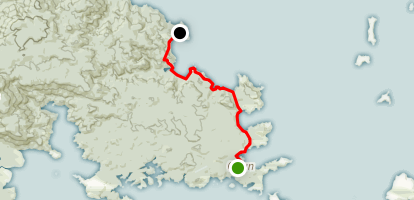 Raikiura Track: Oban to Port William Hut Map