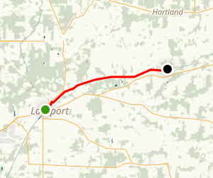 Erie Canalway Trail: Lockport to Gasport Map