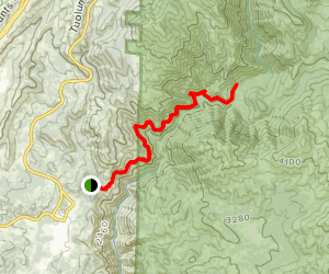 West Side Railroad Trail to the Tuolumne North Fork Map