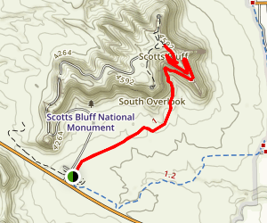 Scotts Bluff National Monument Trail Map