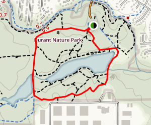 White House Trail, Border Trail, Service Road Map