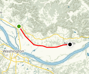 Katy Trail: Dutzow to Augusta Map