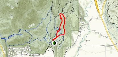 Sage Trail to the Barrel Trail Map
