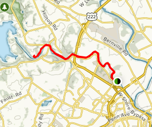 Gring's Mill Trail Map