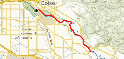 Boise River Greenbelt Trail: Ann Morrison Park to E Parkcenter Blvd ...