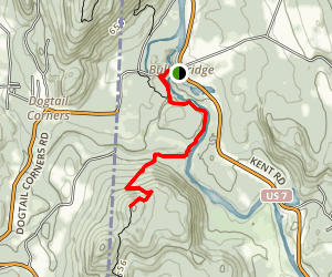 Appalachian Trail: Bull's Bridge to Ten Mile Hill  Map