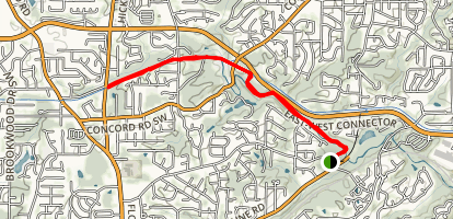 Heritage Park Trail with Silver Comet Extension Map