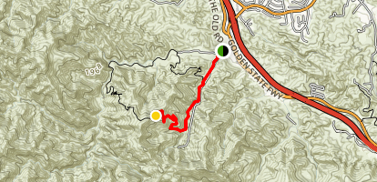 Towsley Canyon to Oak Peak Map