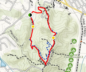 William S. Hart County Park: Hart Trail Map