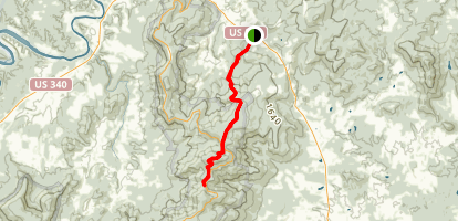 Appalachian Trail: Sloan Creek to Jenkins Gap Map
