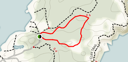 Cathedral Trail to Maple Trail and Black Head Teail Map