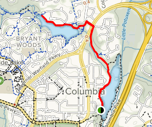 Lake Kittamaqundi to Wilde Lake Trail Map