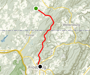 Allegheny Highlands Trail: Deal to Frostburg Map