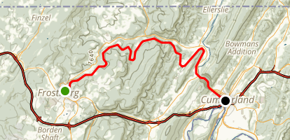 Allegheny Highlands Trail: Frostburg to Cumberland Map