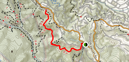 Sun Trail to Redwood Trail Map