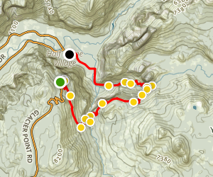 Vernal and Nevada Falls via the Panorama Trail Map