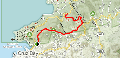 Caneel Hill Trail Map