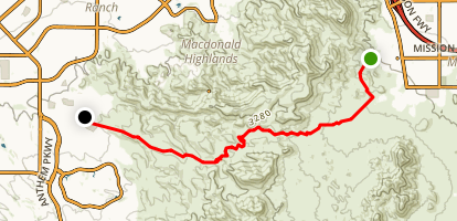 McCullough Hills Trail Map