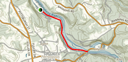 Yough River Trail - Whitsett to Layton Map