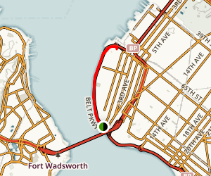 Shore Road Greenway: Fort Hamilton to Owl's Head Park Map