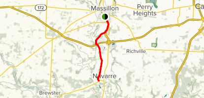 Ohio and Erie Canal: Masillon to Navarre Map