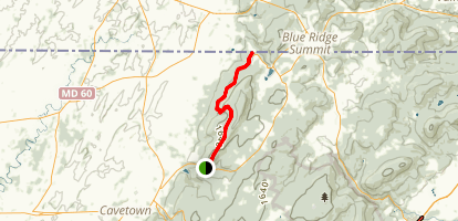 Appalachian Trail: Raven Rock to Pen Mar Map