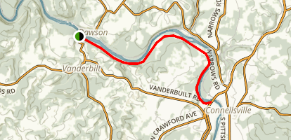 Yough River Trail: Dawson to Connellsville Map