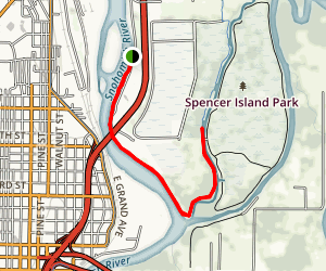 Langus River Front Trail Map