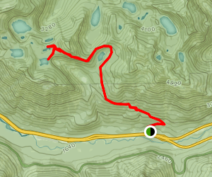 Island and Rainbow Lakes Trail Map