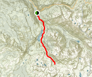 Kennedy Meadows to Sheep Camp Map