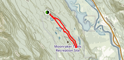 Moonrakers Classic Short (Arrowhead, Tonight Tequila, Tower Road, Bear Claw) Map