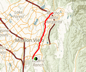 Arroyo Trabuco Trail Map