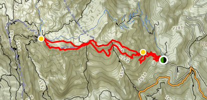 Via Ferrata and Strada delle 52 Galleria Map